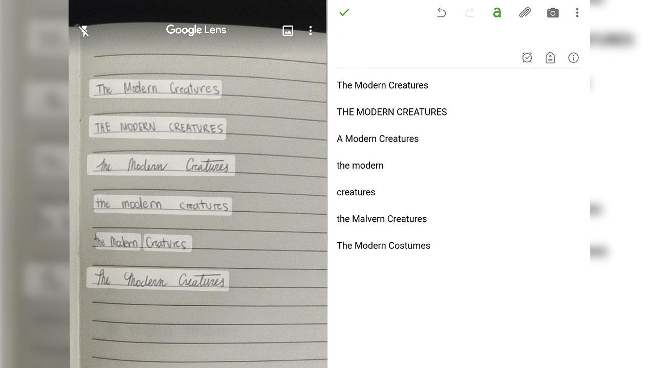 The Modern Creatures Google Lens